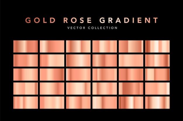 Набор текстуры фольги золотой розы, изолированные на черном