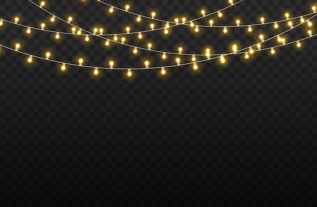 황금 빛나는 화환 led 네온 램프 세트