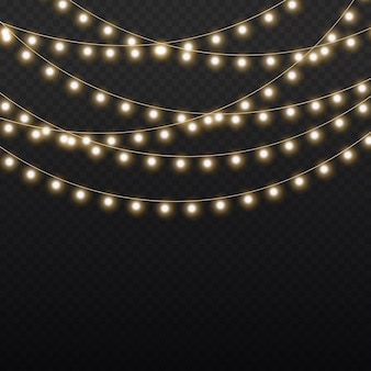 金色のクリスマスの光る花輪のセットは、ネオンランプの新年会のクリスマスライトの装飾を導きました
