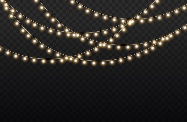 金色のクリスマスの光る花輪のセットはネオンランプ新年会クリスマスライトの装飾を導きました