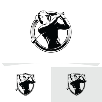 ゴルフのロゴのデザインテンプレートのセット