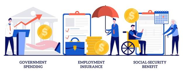 Набор государственных расходов, страхование занятости, пособие по социальному обеспечению