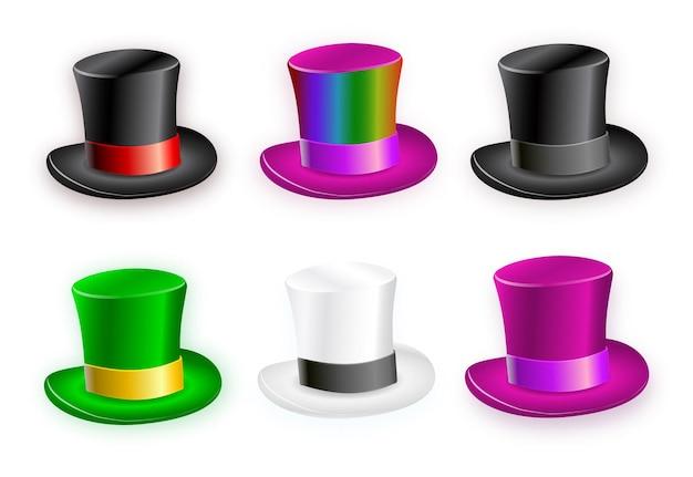 紳士のシンボルとしてグラデーション帽子のセット