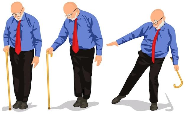 Набор дедов с тростью
