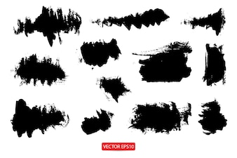Set of grunge banners abstract background brush texture for promotion