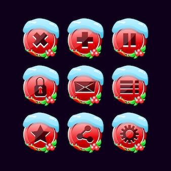 Набор рождественских иконок графического интерфейса пользователя