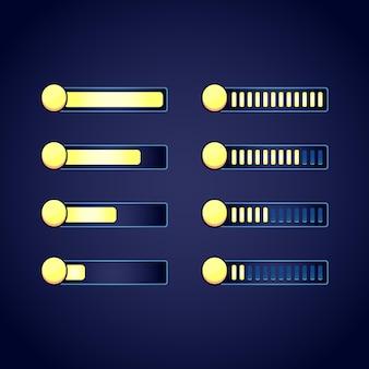Набор графических интерфейсов, фэнтези, рпг, валюта, монета, индикатор выполнения для 2d-игр