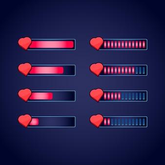 Набор графических интерфейсов, фэнтези, rpg, индикатор прогресса жизни для 2d игр