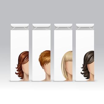 Набор красок для волос, краски, бальзама, бальзама, маски, упаковки, упаковки, упаковки, коробки на фоне