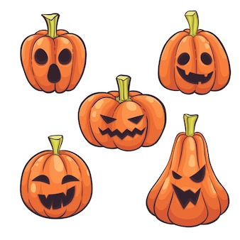 Набор тыкв на хэллоуин
