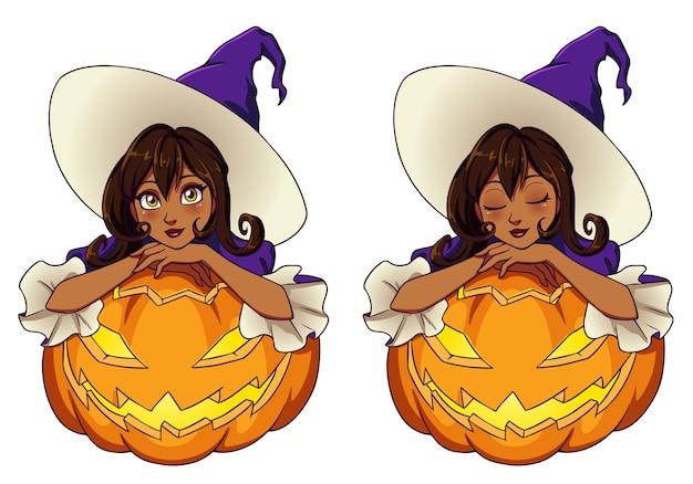 Набор тематических ведьм хэллоуина