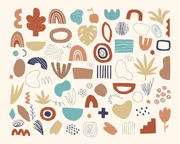 Набор рисованной абстрактных элементов каракули.