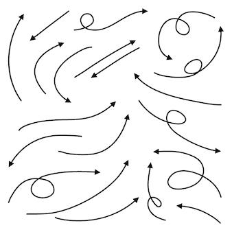Набор рисованной стрелки каракули элементов дизайна