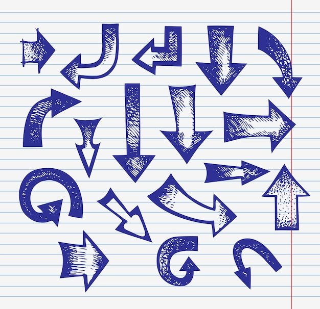 手描き矢印のセット