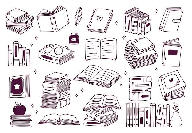 手描きの本のセット