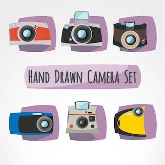 Набор рисованной камер