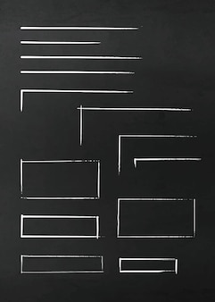 손으로 그린 화려한 화살표와 라인의 집합입니다. 형광펜 요소