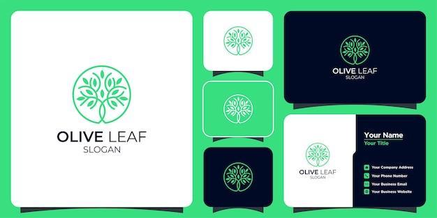 Набор рисованной женственных и современных логотипов шаблонов дерева и визитных карточек