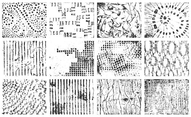 손으로 그린 마커 및 잉크 원활한 패턴 세트
