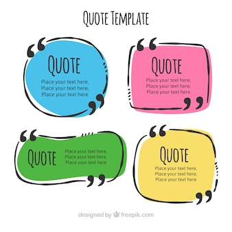 Set of hand drawn quote templates