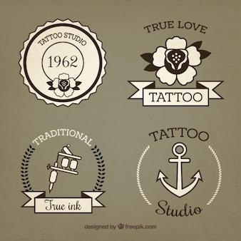 Набор рисованной старинные татуировки