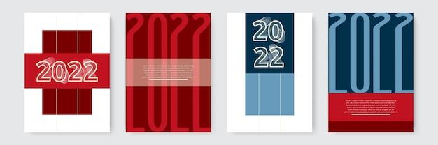 Набор плакатов с новым годом, поздравительных открыток, праздничных обложек, шаблонов дизайна с рождеством ...