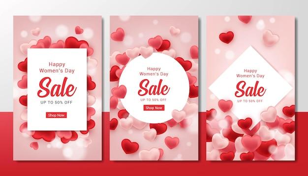 Набор продажи счастливого женского дня