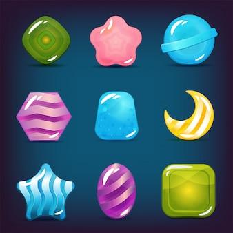 Набор жестких конфет, леденцов и желейных иконок