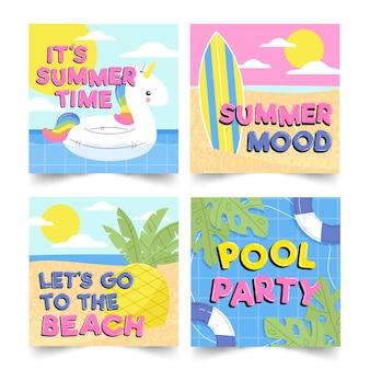 Набор привет летних сообщений instagram