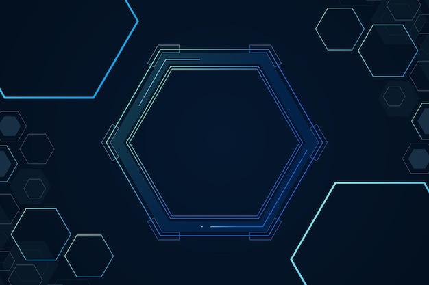Набор структуры ячеек шестиугольника химии абстрактный фон цифровой футуристический минимализм векторные иллюстрации