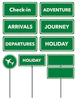 Set of holiday signs