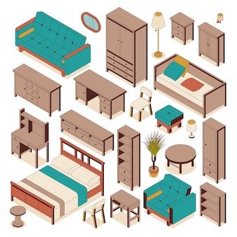 Набор домашней мебели для дизайна интерьера