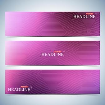 디자인을 위한 수평 여러 가지 빛깔의 배경 세트입니다. 현대 비즈니스 템플릿입니다. 벡터 일러스트 레이 션.