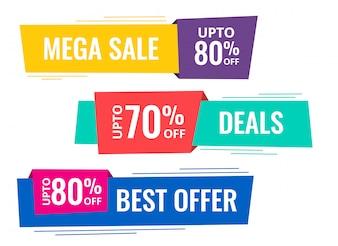 Set of horizontal sale banners
