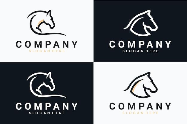 Набор шаблонов лошади, вдохновение для дизайна логотипа