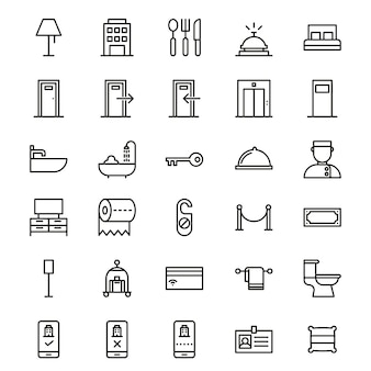 Set Of Hotel Icon