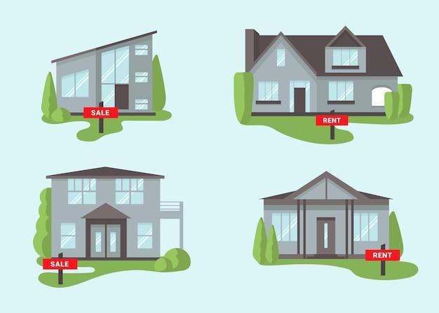 Набор домов на продажу