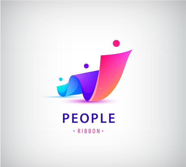 人間、人々のグループのロゴのセット