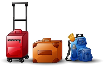 Set of icons travel bags