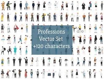Set of illustrated people