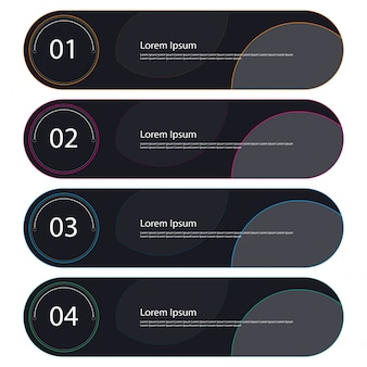 Set of Infographic Banner elements