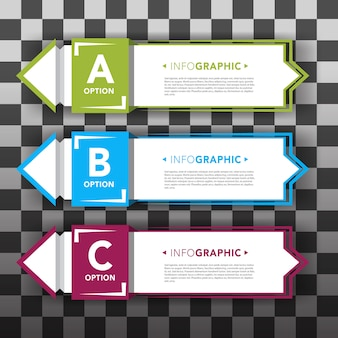 Set of infographic banners