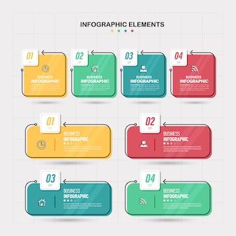 Набор инфографики элементов.