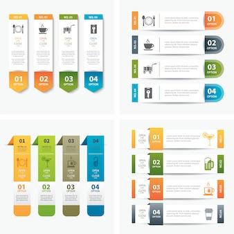 Набор инфографики шаблонов