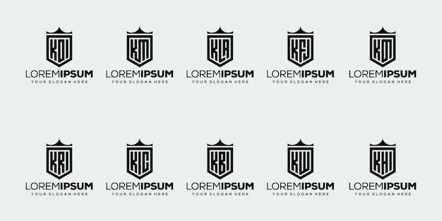 最初の文字kロゴデザインのセット