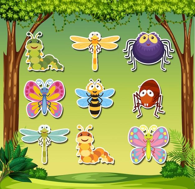 곤충 스티커 세트