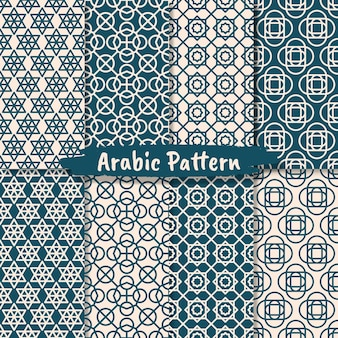 이슬람 추상 장식 패턴 디자인의 집합
