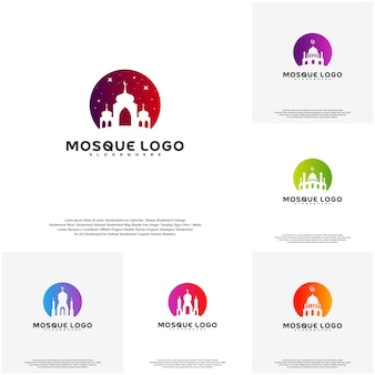Set of Islamic logo design vector