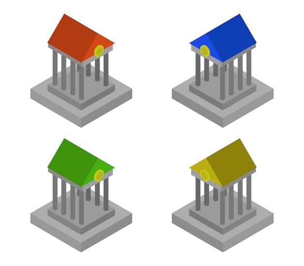 Набор изометрических банков