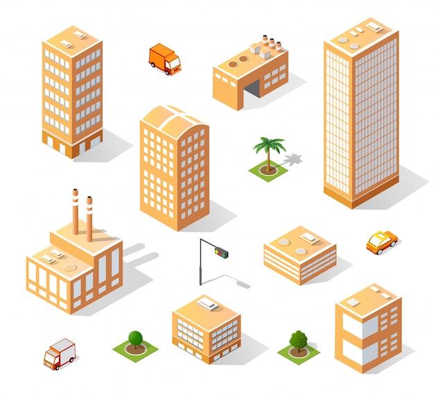 아이소 메트릭 고층 빌딩의 집합